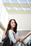 Girl in campus Stock Photography