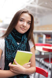 Girl in campus Stock Photos