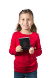 Girl with Canadian Passport Royalty Free Stock Photography