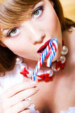 Girl with candy Royalty Free Stock Photos