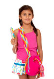 Girl with a candy Royalty Free Stock Photography