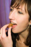 Girl with candy stock image