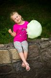 Girl with candy floss Royalty Free Stock Photo