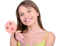 Girl and Candy Stock Image