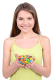 Girl and Candy Stock Photography