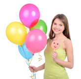 Girl and Candy Royalty Free Stock Images