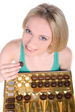 Girl and Candy Stock Photo