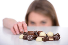 Girl and Candy Stock Photos