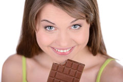 Girl and Candy Royalty Free Stock Image