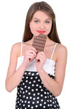 Girl and Candy Royalty Free Stock Photos