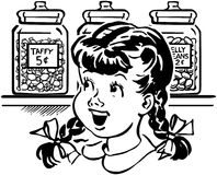 Girl In Candy Store Stock Image