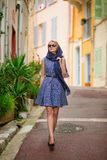 Girl in Cannes, France Stock Photography
