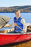 Girl in canoe Stock Photography
