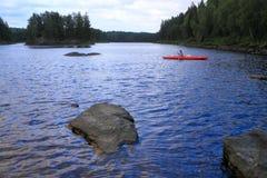 Girl canoeing Royalty Free Stock Photo