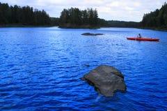 Girl canoeing Royalty Free Stock Image