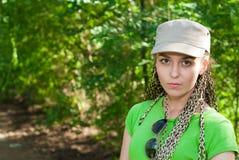 Girl in cap Royalty Free Stock Image