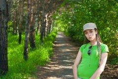 Girl in cap Stock Photo