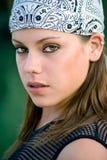 Girl with cap Stock Photos