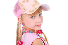 Girl in a cap Stock Photography