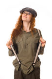 Girl in a cap Royalty Free Stock Photos
