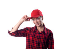 Girl in a cap Royalty Free Stock Photography