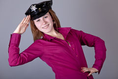 Girl in cap. Royalty Free Stock Photos