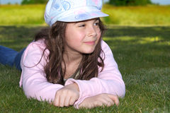 Girl in cap Royalty Free Stock Photos