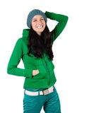 Girl in cap Stock Photos