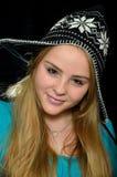 Girl in a cap Stock Photo