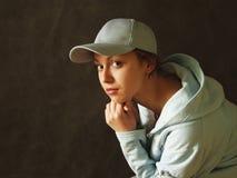 Girl in a cap - 3 Stock Photos