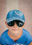 The girl in a cap Royalty Free Stock Photo