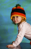 Girl in a cap rastafarian Stock Photo