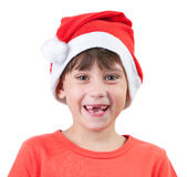 Girl in a cap of Santa Claus Royalty Free Stock Photo