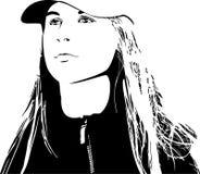 Girl in cap Stock Images