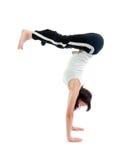 Girl  capoeira dancer posing Royalty Free Stock Images