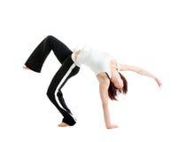 Girl  capoeira dancer posing Royalty Free Stock Image