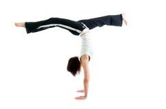 Girl  capoeira dancer posing Royalty Free Stock Photos
