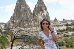 Girl in Cappadocia Stock Images