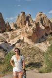 Girl in Cappadocia Royalty Free Stock Photos