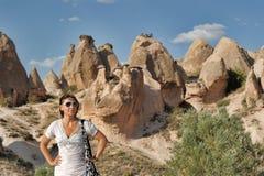 Girl in Cappadocia Stock Photography