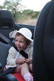 Girl in car Royalty Free Stock Photos