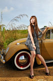 Girl and car Royalty Free Stock Photo