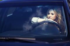 Girl in the car Stock Photo