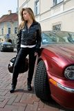 Girl and the car Royalty Free Stock Images