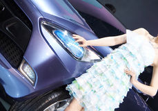 Girl and car Royalty Free Stock Image
