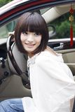 Girl in the car. Royalty Free Stock Photography
