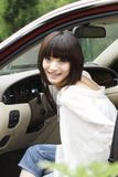 Girl in the car. Stock Image