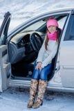 Girl in car Stock Photography
