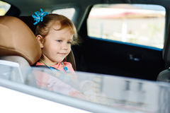Girl in car Royalty Free Stock Photography