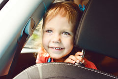 Girl  in the car Royalty Free Stock Image
